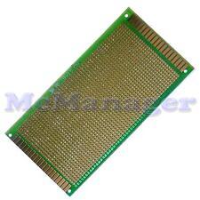 Drilled Single sided Copper Prototype PCB Matrix Epoxy Glass Fibre Board 90x150