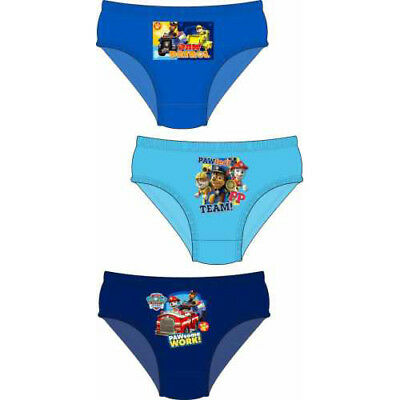 """BOYS OFFICIAL PAW PATROL /""""MARSHALL CHASE /& RUBBLE/"""" CHARACTER BRIEFS 3 PAIRS"""