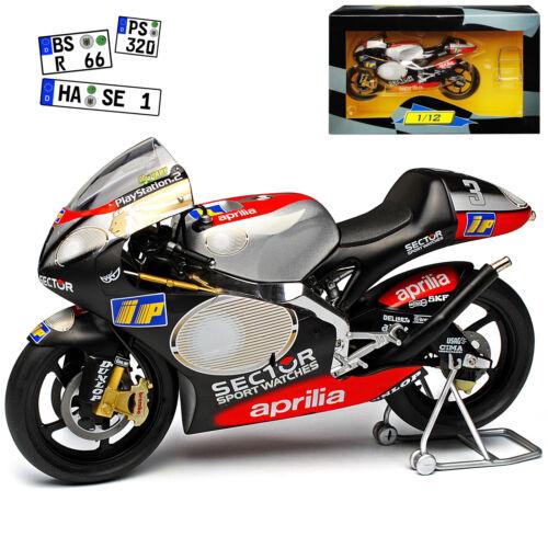 Aprilia rsv250 marco melandri 2002 sin VRS inscripción 1//12 Ixo modelo moto