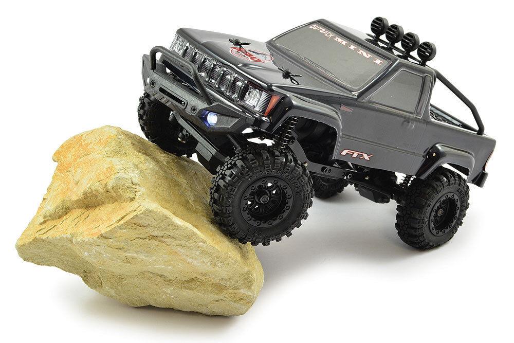 Ftx Outback Mini Trail Negro camioneta 1 24 listo para correr Rock Crawler RC Coche