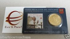 stamp coin card N 2 50 cent euro Vaticano 2012 Vatican Vatikan Giovanni Paolo I