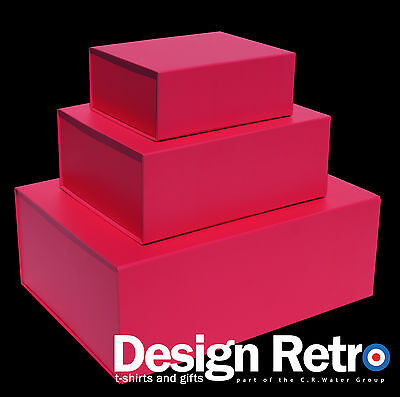 PINK GIFT BOXES, PINK MAGNETIC GIFT BOXES IDEAL KEEPSAKE BOXES,MAGNETIC LID