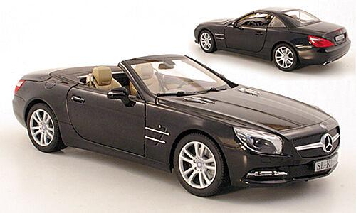 MERCEDES Benz magnetite R 231-SL 500 ROADSTER 2012 magnetite Benz NERO 1 18 NUOVO OVP d922d3