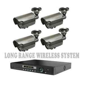LONG-RANGE-WIRELESS-TRANSMIT-UP-TO-1700-FT-Security-Cameras-Night-Vision-W-DVR