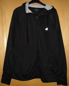 Details zu Adidas Jacke Trainingsjacke Sweatjacke Hoodie Kapuze schwarz grau Gr. XL 46 48