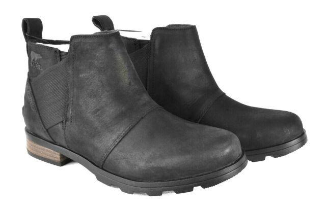 Sorel Women's Emelie Waterproof Chelsea Boot 1749291 Black Size 8.5