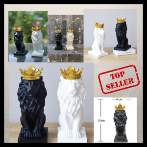 Nordic Resin Lion Statue Style Resin Figurine Sculpture Home Office Decoration