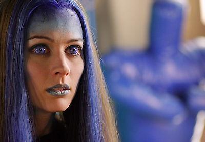 Amy Acker 8x10 In Sexy Blue Hair Close Up Head Shot Ebay