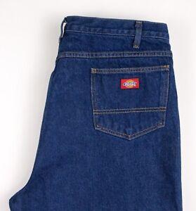 Dickies Hommes Décontracté Slim Jeans Jambe Droite Taille W42 L30 ATZ91