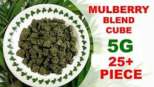 25+ Piece Mulberry Leaves Cube - Live Aquarium Crystal Red Cherry Bee Shrimp 5G