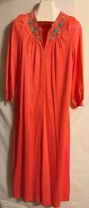 Vintage Gossard Ladies Deep Peach Long Gown Or Robe. Woman's Size Medium