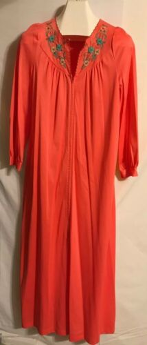 Vintage Gossard Ladies Deep Peach Long Gown Or Ro… - image 1