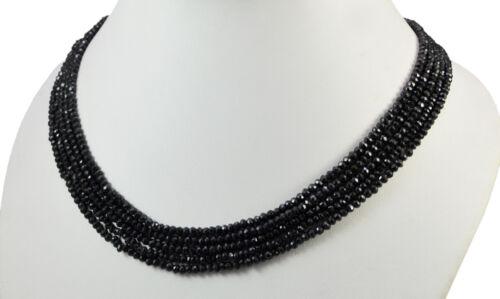 Natural 2//3//5 Multi Brins Noir spinal 4 Mm Facettes Perles Collier De Pierres Précieuses