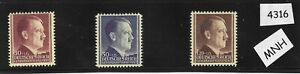 #4316     MNH Stamp set / Adolph Hitler / Thick paper / 1942 Poland Occupation