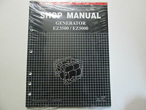 honda ez ez generator service repair shop manual oem book  ebay