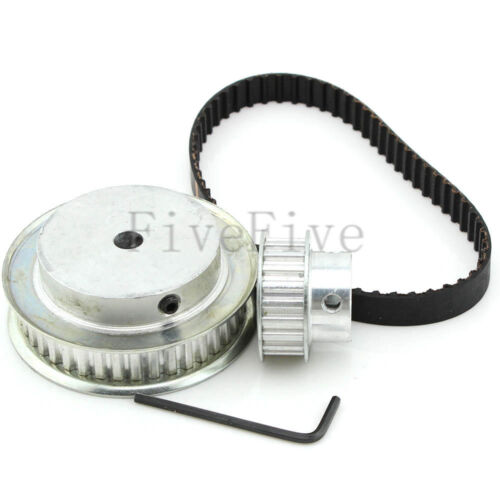 XL 40//20 Teeth 1//5/'/' pitch Timing Pulley Belt Set Kit Reduction Ratio 2:1 CNC