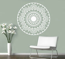 Mandala Wall Vinyl Decal India Henna Flower Vinyl Sticker Abstract Home Decor 7