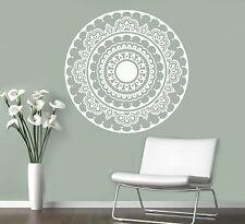 Mandala Wall Vinyl Decal India Henna Flower Vinyl Sticker Abstract Home Decor 7