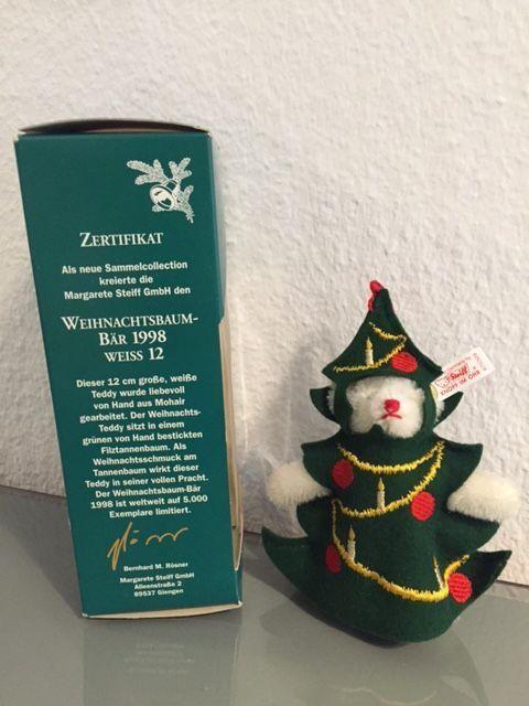 Steiff 670329 - weihnachtsbaumbär 1998, Rarity, NIP