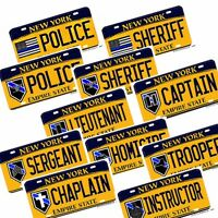 York Law Enforcement Assortment Aluminum Novelty License Plates 11 Designs