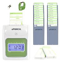 Upunch Hn3500 Electronic Time Clock Punch Digital Recorder Card Payroll Bundle