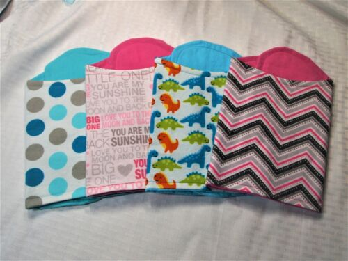 Snuggle Flannel On Flannel Handmade Contoured Baby Burp Cloths