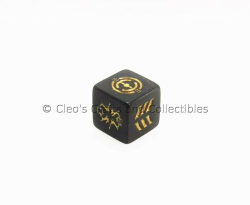 Galactic Battle Game Set Of Six Black Dice Star Wars The Clone Wars Never Used!