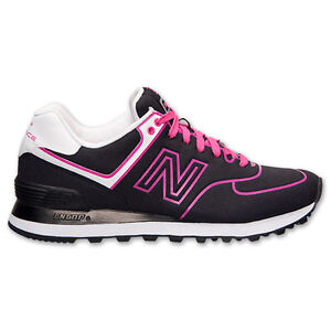 New Balance WL574NEN Neon Pack WMNS Black Red Casual Sneaker NIB