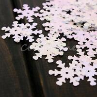 150pcs Iridescent Snowflake Confetti Sequins Christmas Frozen Card Scrapbooking