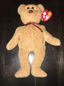 "TY beanie baby ""Curly"" 1993 retired with tag errors"