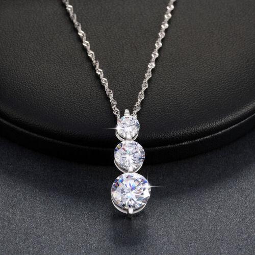 ORSA Women Round CZ Crystal Pendant Necklace 18/'/' Chain Wedding Valentine/'s Gift