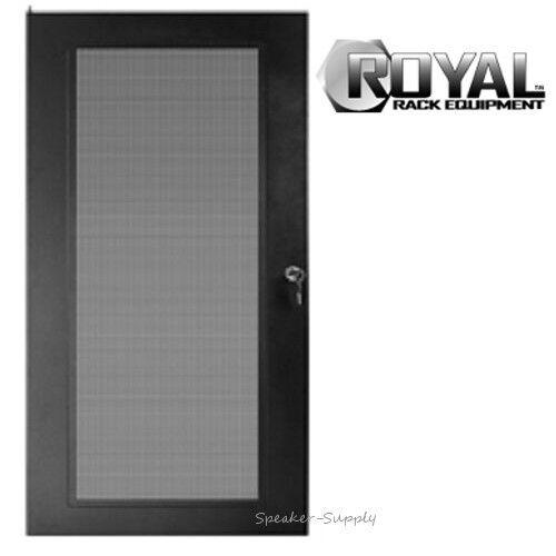 Royal Racks 16U Audio Video AV Rack Door with Lock and Key Mounting Home Theater