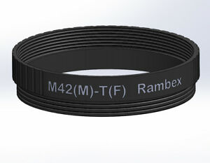 Rambex M42 Male to T T2 Female Mount thread lens Adapter converter Ring M42-T