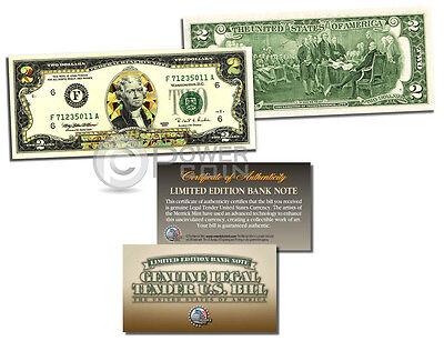 ARMY *Legal Tender* GOLD HOLOGRAM $2 U.S U.S BILL **MUST SEE**