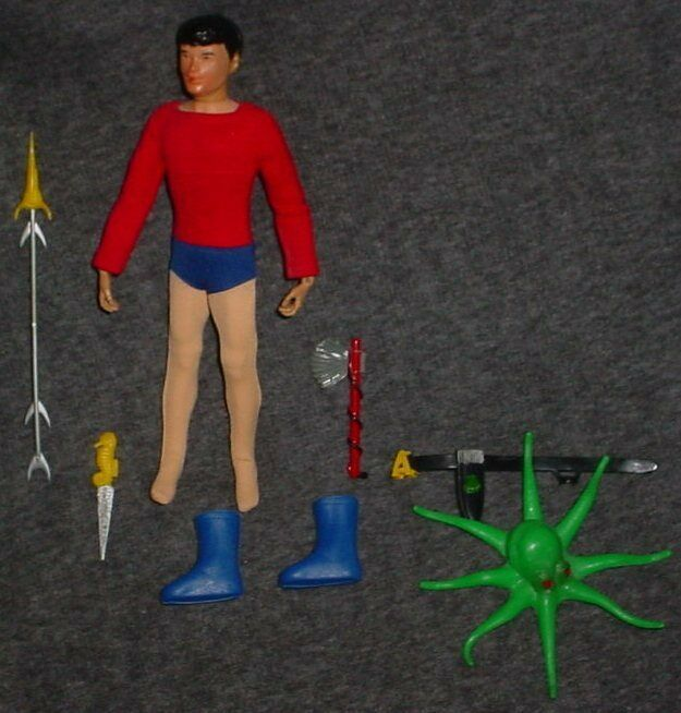 VINTAGE IDEAL CAPTAIN ACTION BOY AQUALAD COMPLETE SET  VERY  VERY NICE SET
