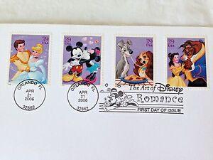 The-Art-of-Disney-Romance-FDC-USA-Stamp-2006-Disney-First-Day-Issue-w-Program