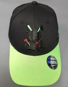 d6a35999c531d7 Black Keys Lucky Charm Dad Hat Strap Back Cap - Black/Neon Green | eBay
