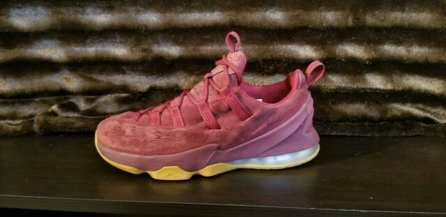 sneakers for cheap 9239d b1f99 Nike Lebron 13 XIII Low Premium Maroon Suede Gum Men's Size 8