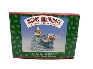 1999-Hallmark-Merry-Miniatures-034-A-Kiss-For-You-Hershey-039-s-034-25-Year-Anniversary