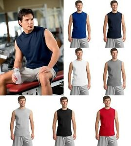 JERZEES-Mens-S-2XL-3XL-Heavyweight-Cotton-Sleeveless-Muscle-Sports-T-Shirt-49M