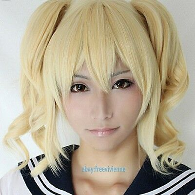 Code Geass Anya Alstreim Golden Ponytail Cosplay Party Wig + Free Wig Cap