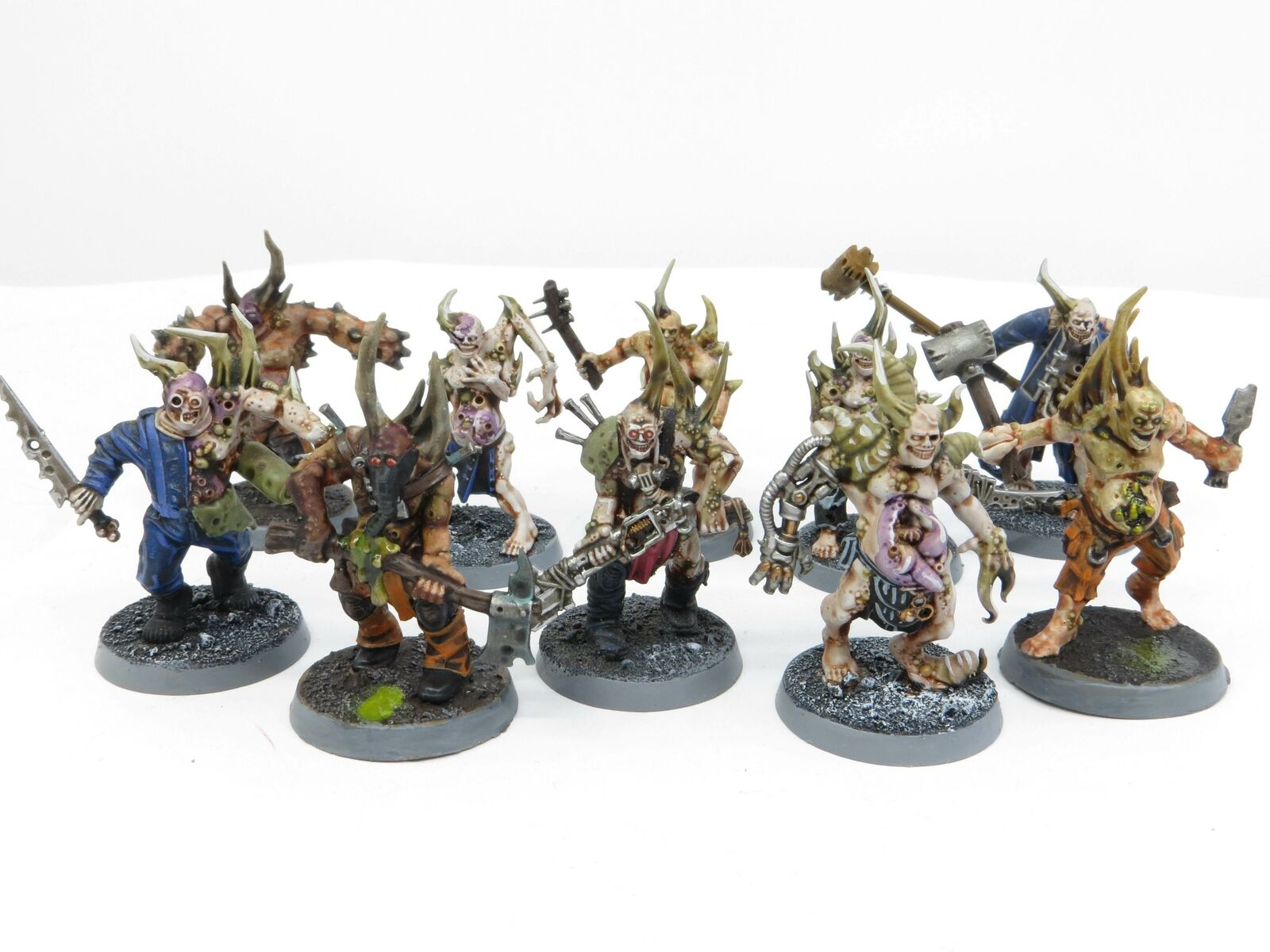 POXWALKERS x 10 Painted Death Guard Nurgle Chaos Marine Warhammer 40k Army Lotz7