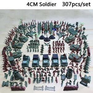 307-teile-Militaer-Figuren-Soldaten-USA-Army-Modell-Spielzeug-Armee-WW2-Krieg-Neu