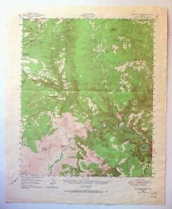 Topographic Map Mountain.1946 Salt River Canyon Blue House Mountain Arizona Vintage Usgs