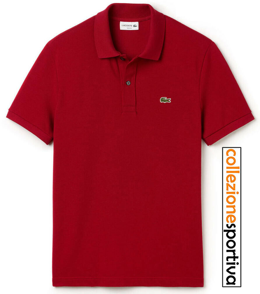POLO LACOSTE SLIM FIT PETIT PIQUÈ - cod. PH4012-00-476 col. bordeaux