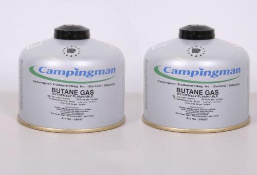 2x Campingman Type Butane 230g Cartouche Gas Cuisinière à Gaz Camping 7//16 ´´
