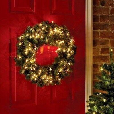 Christmas Wreath Light Up Led Pre Lit