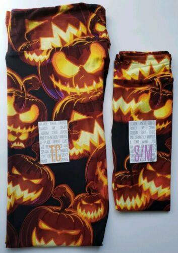 Details about  /Lularoe 3D Scary Pumpkins TC /& S//M Leggings Halloween Jack O Lanterns NEW