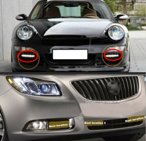 2x 12V 8LED DRL Euro Style Front Bumper Grille Daytime Running Light For Lexus