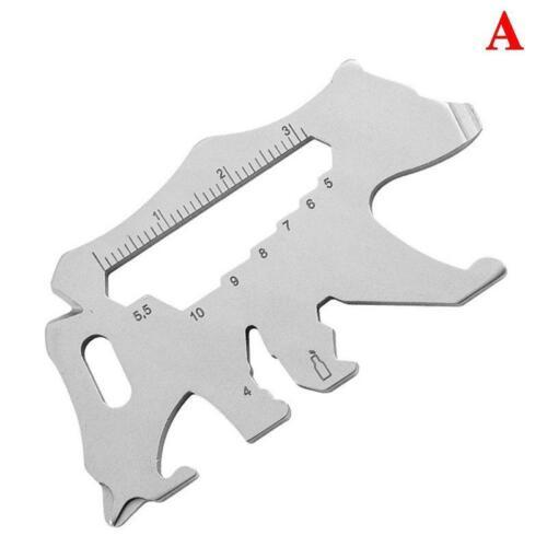 65*34MM Outdoor Tools Multifunction Keychain Tools Card Carabiner Clip Hiking